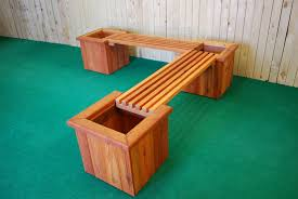 pl box l shape planter and bench u2014 the redwood store