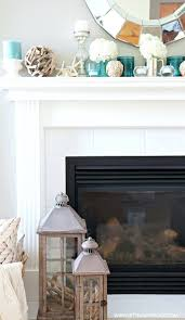 decorations a beachy summer mantle inspired by pottery barn