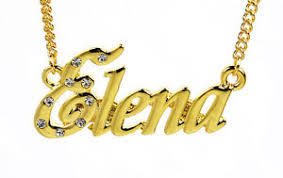 chain with name 18k gold plated necklace with name bridal name chain name