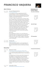 Powerpoint Resume Sample by Account Representative Resume Samples Visualcv Resume Samples