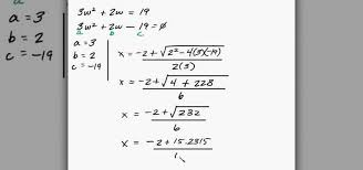 how to solve quadratic equation word problems in algebra math
