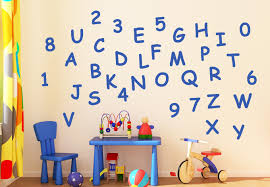 letters and numbers wall sticker set nursery decor for kids