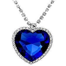 blue heart necklace images Buy caratcube sapphire blue austrian crystal heart of the ocean jpg