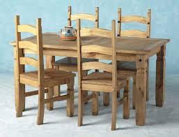 Mexican Dining Room Furniture Corona Mexican Pine Dining Set 5 Dining Table 4 Chairs Mexican