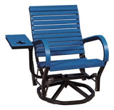 Blue Glider Chair Poly Furniture Outdoor Furniture The Olde Oak Tree Fort Wayne In