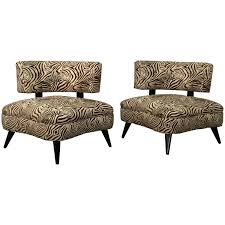 Animal Print Furniture by Pair Of 1950s Retro Chairs In Zebra Print For Sale At 1stdibs