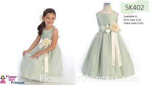 sk402 flower dress in satin and tulle from