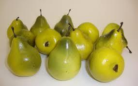 pear home decor faux fruit mini yellow green pears fruit kitchen realistic
