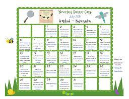 july neverland summer camp preschool u0026 kindergarten calendar