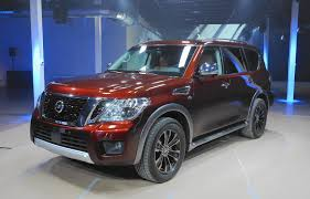 nissan armada platinum interior 2017 nissan armada full size suv debuts on eve of chicago auto