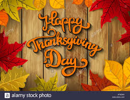 thanksgiving vector art happy thanksgiving day hand drawn lettering with yellow autumn