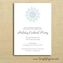 cocktail party invitation snowflake party invitations simply paperie