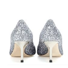 wedding shoes glitter silver wedding shoes glitter pointy toe kitten heel sparkly pumps