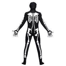 Glow Dark Halloween Costumes Aliexpress Buy Men Dark Skeleton Costume Catsuit