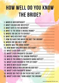 wedding shoes questions free printable how well do you the hen party