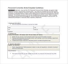 employee action plan template u2013 8 free word excel pdf