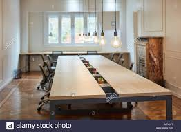Large Conference Table Empty Conference Room With A Large Conference Table In A Start Up