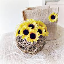 Sunflower Centerpiece Sunflower Kissing Ball Twig Silk Flower From Redgarnethome On