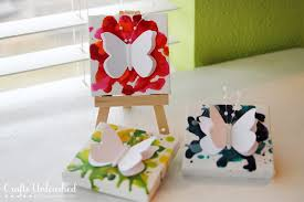 butterfly crayon art canvases