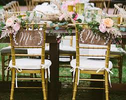 Wooden Wedding Chairs Wedding Signs By Paperandpineco On Etsy