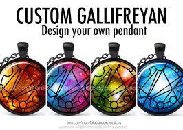 design your own necklace custom gallifreyan name words gallifrey necklace design