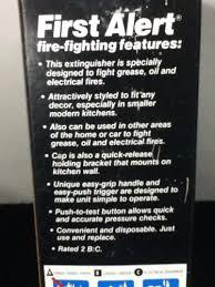 First Alert Kitchen Fire Extinguisher by First Alert Kitchen Fire Extinguisher Model Kfe2 New Old Stock