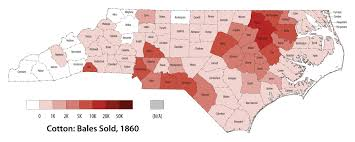 1860 Election Map by Changes In Agriculture North Carolina History A Sampler