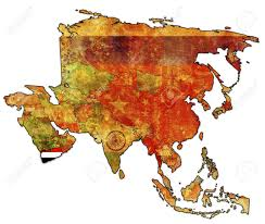 World Map Of Asia by Old Political Map Of Asia With Flag Of Yemen Stock Photo Picture