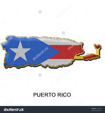 Map Of Puerto Rico by Map Shaped Flag Of Puerto Rico In The Style Of A Metal Pin Badge