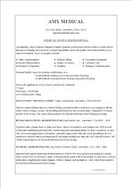 Resume Templates Office Medical Clerical Resume Samples Office Assistant Templates Job