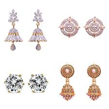 artificial earrings artificial jewellery earring combo for everyday use for women and