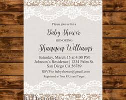Burlap And Lace Wedding Invitations Burlap And Lace Invitation Etsy