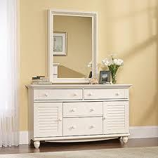 Sauder Bedroom Furniture Sauder Harbor View 4 Drawer Salt Oak Dresser 414942 The Home Depot