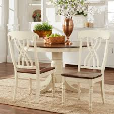 mackenzie country style two tone dining set 4s