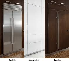 gap between fridge and cabinets overlay vs built in vs integrated refrigerators what s the