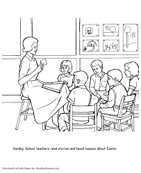 church coloring pages sunday teacher honkingdonkey