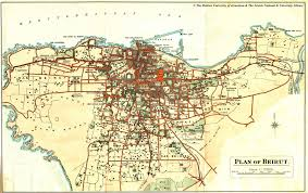 beirut on map map of beirut f palmer 1923
