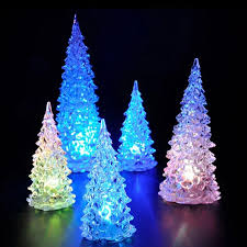 led light desk l color changing crystal led night light christmas tree shape