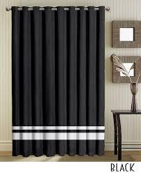 White Black Curtains Black Curtains Grommet