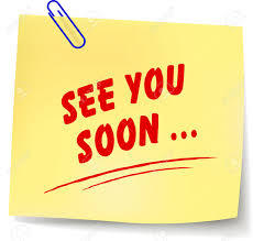 see u soon vector illustration of see you soon yellow note on white