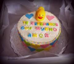 gender reveal cake for a baby shower neutral gender decorations