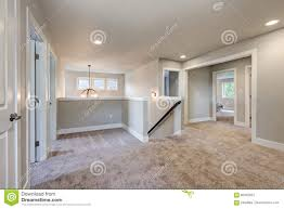 second floor landing with grey walls paint color stock photo