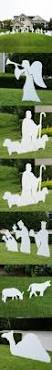 Lighted Outdoor Christmas Nativity Scene by Best 25 Outdoor Nativity Scene Ideas On Pinterest Outdoor