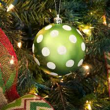100mm polka dot polka dot ornament matte lime green white