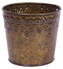 look brown planter u2013 cast in iron u2013 embossed motifs u2013 speckled
