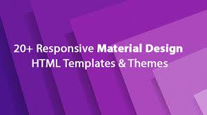 20 responsive free material design html templates u0026 themes 2017