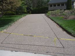 Exposed Aggregate Patio Stones A New Exposed Aggregate Driveway In Michigan Albaugh Masonry