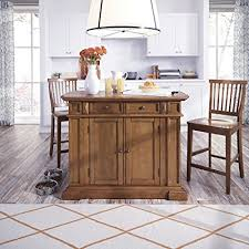 kitchen island oak amazon com home styles 5004 948 distressed oak kitchen island and