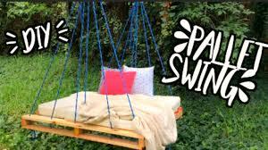 diy outdoor pallet swing eugenia baz youtube