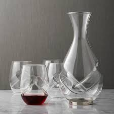 wine sets aerating decanter and wine glass set wine enthusiast